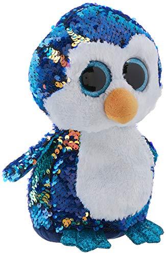 TY 36434 Payton Penguin Plüschtier, Blau/Weiß, 23 cm