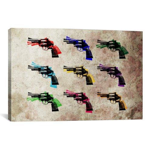 iCanvasART Nine Revolvers Canvas Art Print by Michael Thomps...