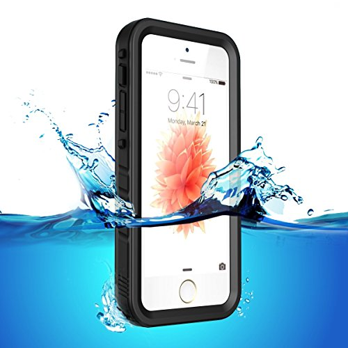 Iphone Funda 5SE/5S/5 impermeable Three-Proof Case,color negro