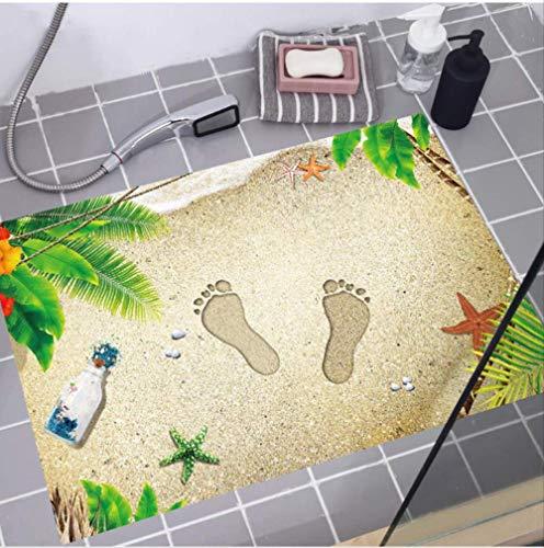 Muurstickers Strand en Voetafdrukken Patronen PVC Materiaal 3D Vloer Stickers Deurmatten Kussens Decoraties