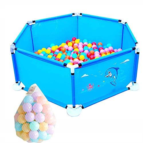NYDZDM Baby Play Fence Parc pour bébé avec barrière de sécurité pour Tout-Petits (Color : Blue)
