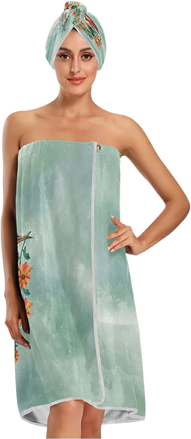 xigua Women's Spa Bath Deluxe Wrap Adjustable Chicago Mall with Lightweight Closure