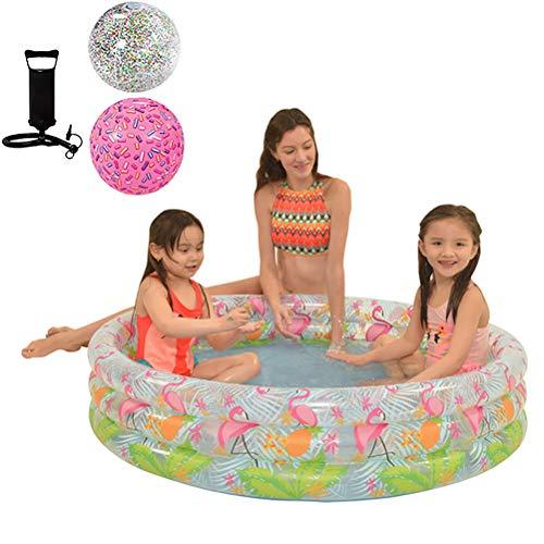 PVC Huishoudelijke Kinderzwembad Slijtvaste Play Kids Pool Voor Buiten Opvouwbare Ring Pool,Swan 120 * 25cm