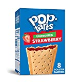 Pop-Tarts, Breakfast Toaster Pastries, Unfrosted Strawberry, Proudly Baked in the USA,  96 count  (Pack of 12, 13.5 oz Boxes)