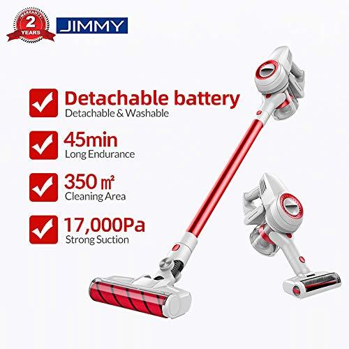 JIMMY Xiaomi JV51 Aspirador escoba, Aspirador sin cable, Aspirador 4 en 1 (Potencia de succión de 17,000 Pa, batería desmontable, Autonomía hasta 45 min, Ruido Bajo)