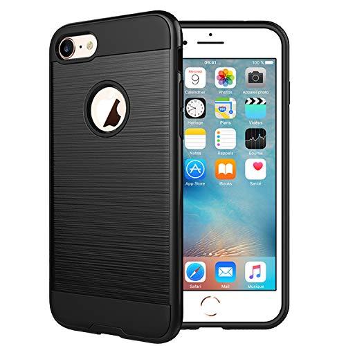 """NEW'C Coque Compatible avec iPhone 6 et iPhone 6S (4.7""""), Coque de Protection 2 en 1, Robuste Anti Choc Silicone en Gel+PV"""