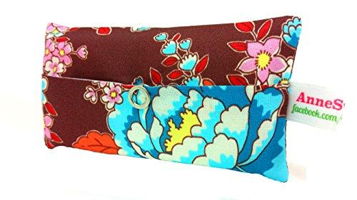 Zakdoeken tas retro turkoois bloem adventskalender vullen knuffelgeschenk souvenir give away collega's Kerstmis