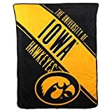 NCAA Collegiate Section Super Soft Plush Throw Blanket (Iowa Hawkeyes)