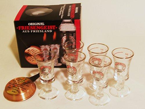 Friesengeist GP mit 6 Gläsern und Pfännchen