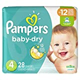 Pampers Cruisers Baby Dry Diapers, Size 4, 28 Count