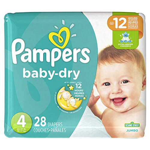 Price comparison product image Pampers Cruisers Baby Dry Diapers,  Size 4,  28 Count