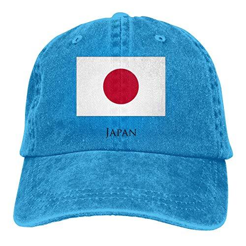 KLING Sombrero de pap Ajustable Unisex de Adultos con Lavado Vintage Gorra de bisbol - Bandera de Japn Negra