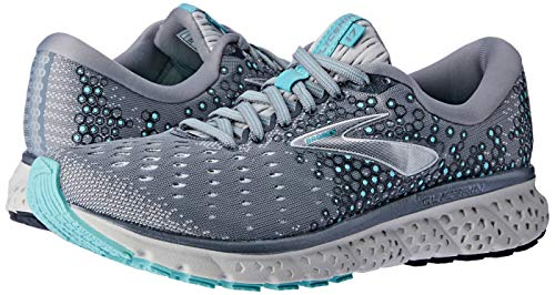 Brooks Womens Glycerin 17 Running Shoe - Grey/Aqua/Ebony - B - 9.5 7