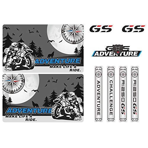RONGLINGXING Powersports Onderdelen Motorcycle Tail Bovenkant Box Cases Panniers Bagage Aluminium Stickers Decals Adventure for BMW R1250GS R1250 1250 R ADV GS Case (Color : 3)