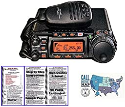 Yaesu FT-857D HF/VHF/UHF 100W Ultra Compact Mobile Transceiver with Nifty! Accessories Mini-Manual and Ham Guides TM Quick Reference Card Bundle!!