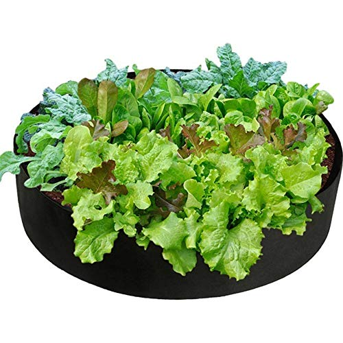 Gulin Fabric Raised Garden Bed, Round Planting Container Grow Bag Planter Pot for Plants Flowers Vegetables 15 Gallon