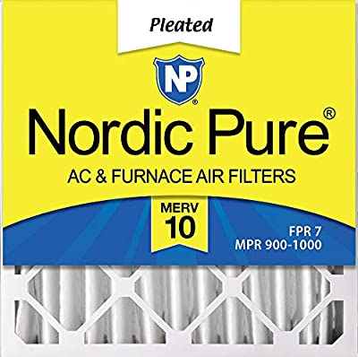 Nordic Pure 20x20x4 (3-5/8 Atcual Depth) Pleated AC Furnace Air Filters