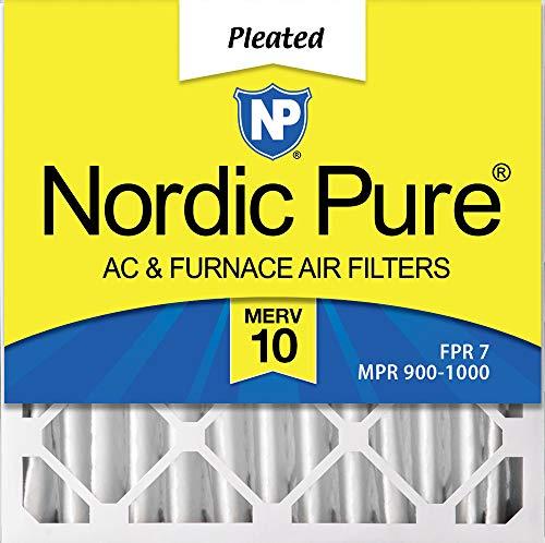 Nordic Pure - Filtro de aire para mueble de CA (3-5/8 mm de profundidad) MERV 10 plisado, caja de 6