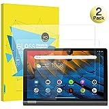 MoKo Protector de Pantalla Compatible con Lenovo Yoga Smart Tab, [2 Pcs] Premium HD Claro 9H Dureza Cristal Templado Película Compatible con Lenovo Yoga Smart Tab Tablet 10.1 Inch 2019 - Claro