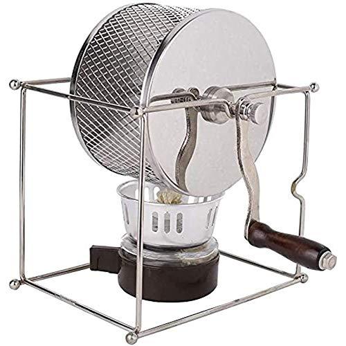 Manuelle Kaffeebohnen Röstmaschine DIY Edelstahl-Bräter Roller Kaffee-Röster-Maschine Mit Griff, Für Home Office Hotels 300G