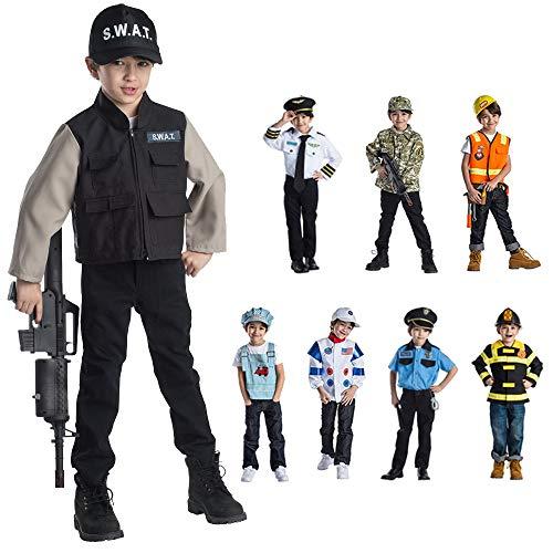 Dress Up America Ensemble de jeu de rôle de l'équipe SWAT de Young Heroes enfant 3-6 ans