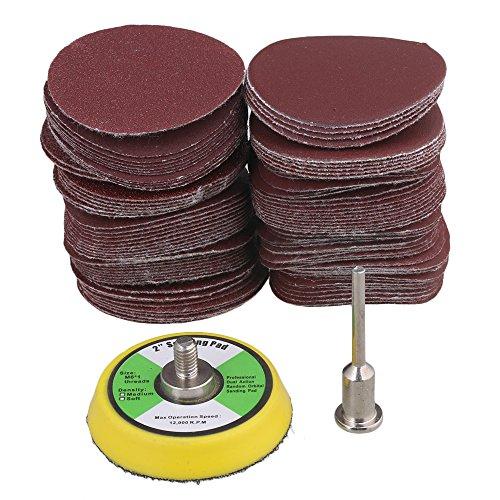 BQLZR 60-2000 Körnung 2-Zoll 50mm Schleifscheiben Schleifpapier Klett Schleifpad Polierwerkzeug Packung von 100