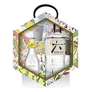 Roku Gin Ginebra Artesanal Japonesa + Tónica y Vaso, 43% - 700 ml