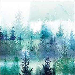 4 Paper Napkins for Decoupage - 3-ply, 33 x 33cm - Christmas - Forest Fog (4 Individual Napkins for Craft and Napkin Art.)