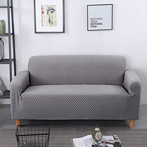 Jacquard Sofa Hoes Woonkamer Couch Cover Elastische Stretch Sofa Cover voor Kinderen Huisdieren Honden Meubels Protector-Grijs_A-B 195-230 cm