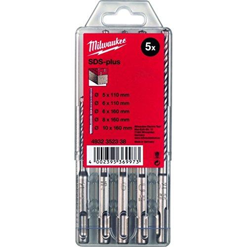Milwaukee Hammerbohrer SDS-Plus L= 110/160mm, Typ 2, Kassette 5-tlg.