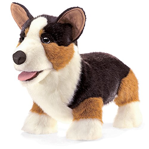 Folkmanis Handpuppe Puppet Corgi 3089