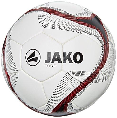 JAKO Turf -2371- Balón de fútbol Multicolor Weiß/Schwarz/Rot Talla:4