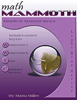 Math Mammoth Grade 6 Answer Keys