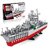 Tewerfitisme Barco de guerra modelo 2462Pcs Montabaustein Juguete educativo Festival Regalo para niños Adultos