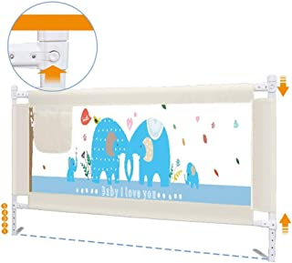 Bed Rail Children's Fence to Prevent Falling Bedside Baffle 150/180 / 200cm Bed Universal (Adjustment Height 74-88cm) (Color : B, Size : L-150cm)