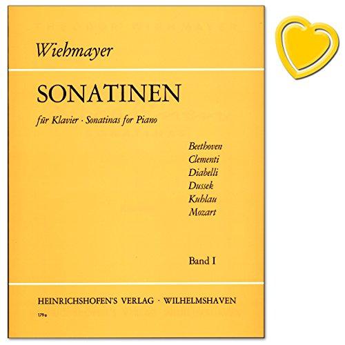 Sonatinen für Klavier Band 1 - Beethoven, Clementi, Diabelli, Dussek, Kuhlau, Mozart - Spielpartitur mit bunter herzförmiger Notenklammer