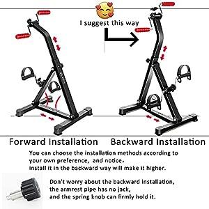 NISDOKR Pedal Exerciser Bike Hand Arm Leg and Knee Peddler Adjustable Indoor Fitness Equipment for Seniors, Elderly Home Folding Pedal Exercise Bike for Total Body