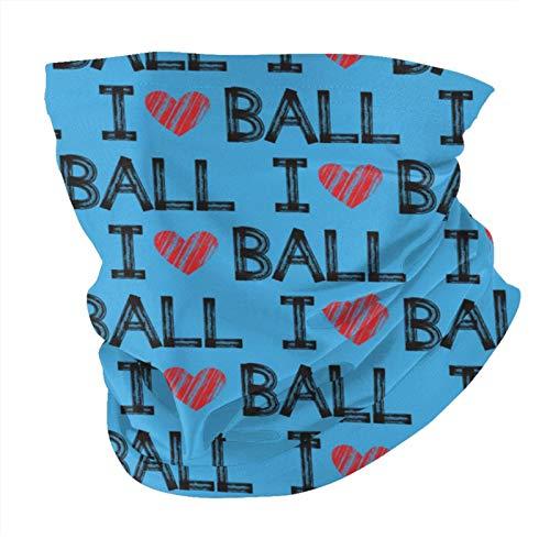 Xinflag@10 I Heart Ball - Pañuelo de cabeza con forma de corazón, color azul