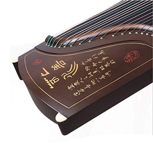NHY Handgeschnitzte Anfänger-Aufnahmeprüfung Klasse Guzheng Klassisches Orchesterinstrument, Ebenholz Guzheng