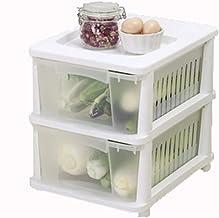 XINGDONG półka wózek plastikowy szuflada wózek stojak na wózek domowy wózek kuchnia przechowywanie trwały (rozmiar: 2 wars...