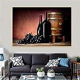 adgkitb canvas Nourriture Jus De Raisin Vin Boissons Baril Cuisine Décor Champagne Moderne Impression Salon...