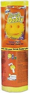 SCRUB DADDY, INC. Scrub Daddy Scratch-Free Scrubbing Sponge 4 1/8-inch Diameter Yellow Polymer Foam 8/Pack