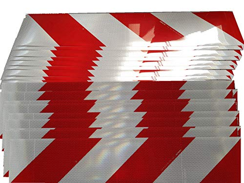 Orafol Container Warnmarkierung, selbstklebend, 141 mm x 705 mm, 80 Streifen (40 x links, 40 x rechts)