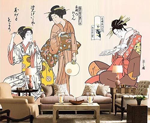 Wallpapers muurschildering aangepast behang japanse meid japanse restaurant muurschildering huisdecoratie woonkamer slaapkamer 3D-behang 250 * 175cm