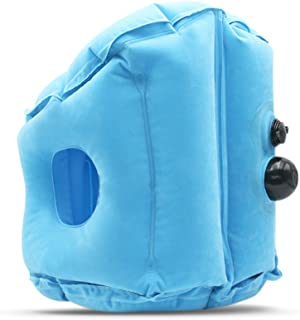 Mainstayae Travel Pillow Inflatable Pillows Air Soft Cushion Trip Portable Innovative Products Blue S Push Type