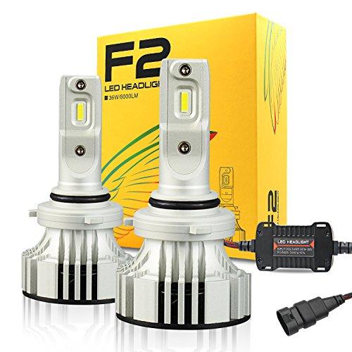 CATIZON HB4 9006 LED Headlight Bulbs,CREE Chips 12000Lm 6500K Extremely Bright Conversion Kit,360 Degree Adjustable Beam Angle