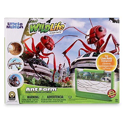 Uncle Milton Ant Farm Antopia Rainforest Ant Habitat - Observe Live Ants - Nature Learning Toy
