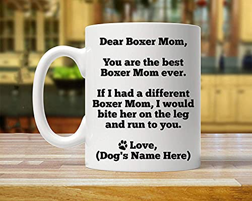Boxer Mom, Personalized Boxer Mom Gift, Boxer Gift for Her, Custom Boxer...