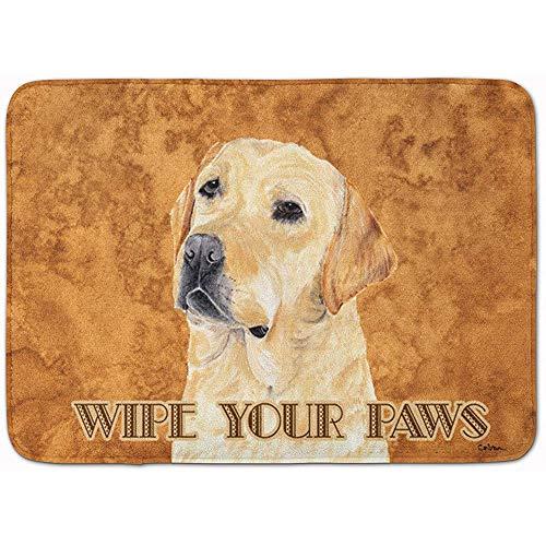 OUSHENGMAOYI Alfombrillas Antideslizantes,Labrador Wipe Your Paws Floor Mat, 60X40Cm