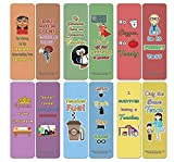 Creanoso Funny Teacher Bookmark (30-Pack) - Stocking Stuffers Premium Quality Gift Ideas for Children, Teens, Adults - Corporate Giveaways & Party Favors